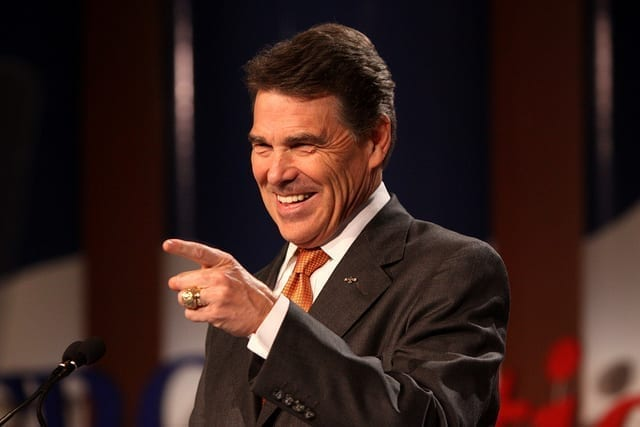 Then governor of Texas, Rick Perry (pictured) signed a package of tort reform recommendations into law in 2003. Photo by Gage Skidmore, via Flickr.