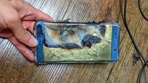 Burnt Note 7 Smartphone; Image Courtesy of CNN Tech, http://money.cnn.com/technology/