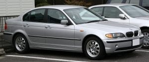 A 2002 BMW 320i; image courtesy of www.lookatthecar.org.