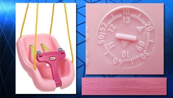 Recall Issued For Little Tikes Pink Swings Legal Reader