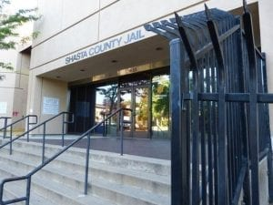 Image of the steps leading up to the Shasta County Jail