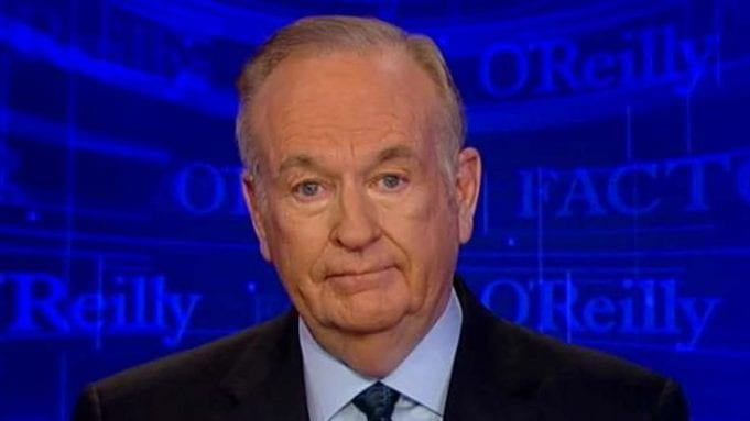 Bill O'Reilly looks into the camera.