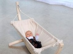 Image of a baby in a baby hammock