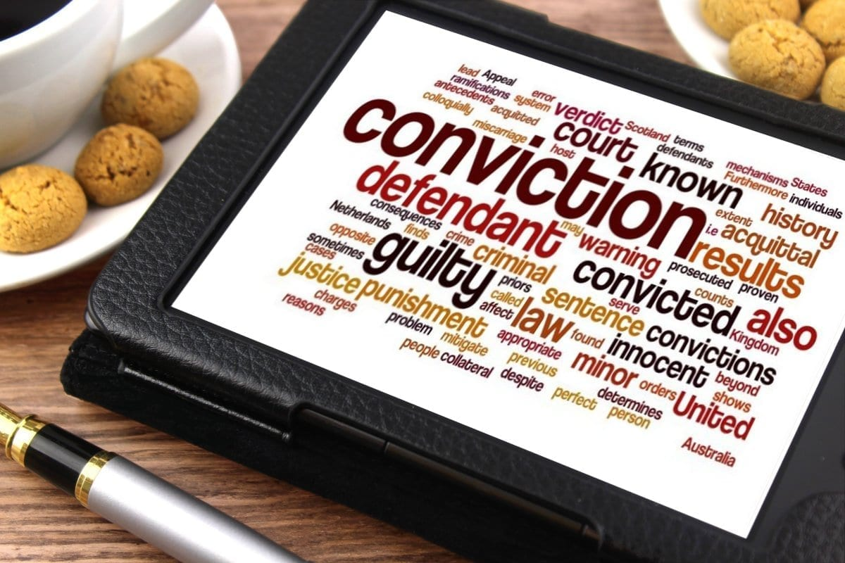 """Image of a tablet with legal terms, including """"Conviction""""; image by Nick Youngson - http://www.nyphotgraphic.com via Alpha Stock Images - http://alphastockimages.com, CC BY-SA 3.0, no changes."""