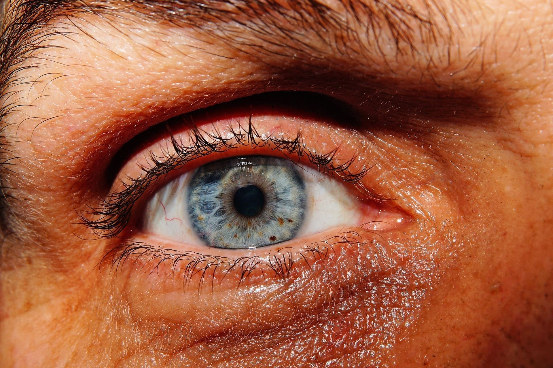 Man's eye; image by Kapa65, via Pixabay, CC0.