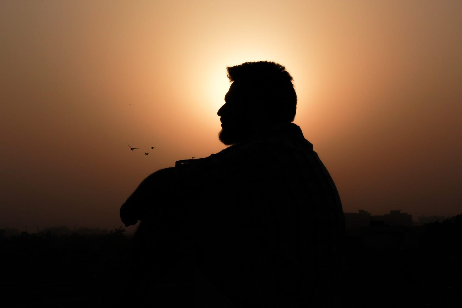 Silhouette of a man alone; image by minalsingla104, via Pixabay, CC0.
