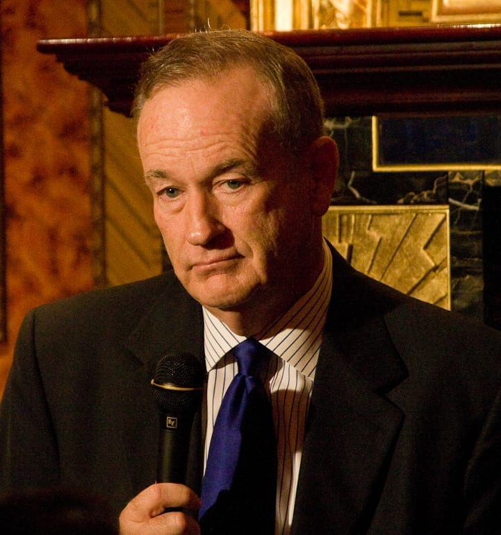 Bill O'Reilly; image by Justin Hoch, CC BY 2.0, via Wikimedia Commons, no changes.