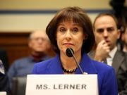 Lois Lerner takes part in a House oversight committee meeting.