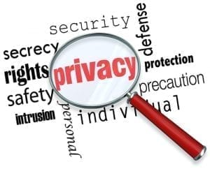 Image with the word Privacy written in red.