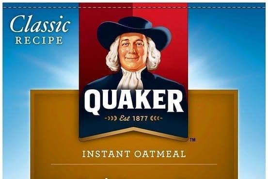 Image of a Quaker Oats Oatmeal Label