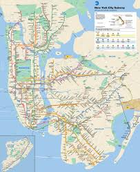 A map of the New York City subway system.