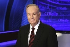 Bill O'Reilly, wearing a suit and tie, looks into the camera.