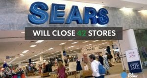 A Sears store in a mall.