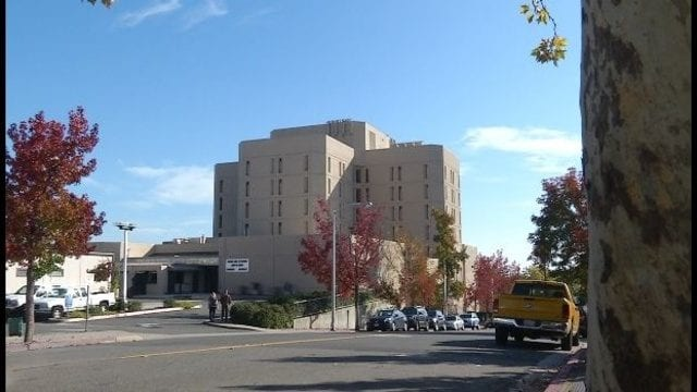 A street view of a county jail in Redding, CA