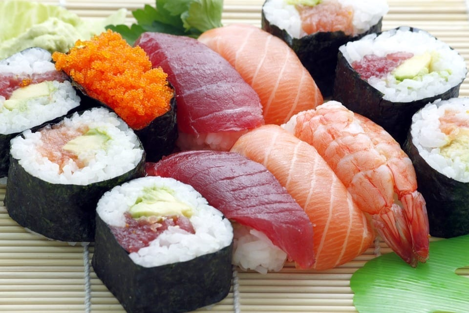 A plate of sushi, a common target for food fraud.