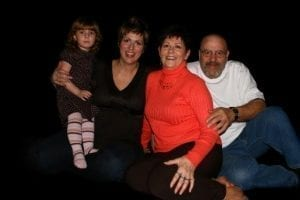 Heather St. James pictured with family.