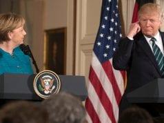 Donald Trump and Angela Merkel.