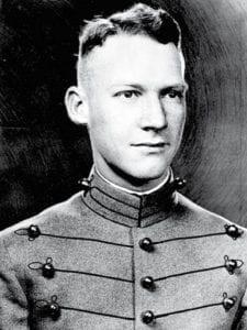 First Lt. Alexander Nininger in black and white