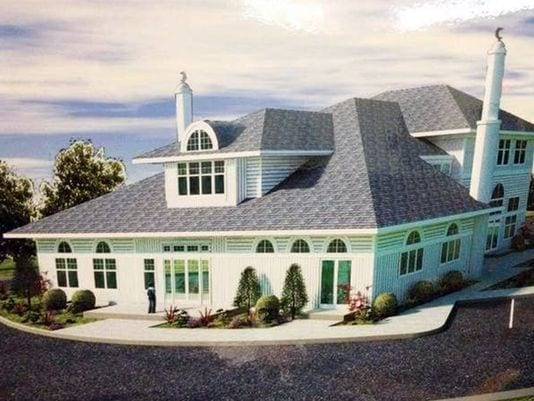 The proposed design for a mosque in Bernards Township