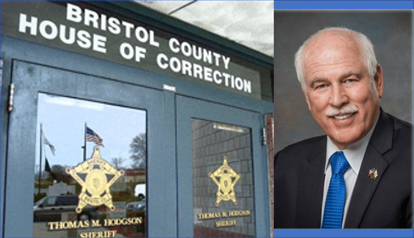 Bristol County Sheriff Thomas Hodgson; & Bristol County House of Correction; images courtesy of Bristol County Sheriff's Office official website, Public domain.