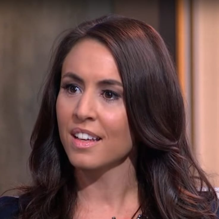 Andrea Tantaros; image by Good Morning America - ABC Television (Screen capture of an interview), CC BY-SA 4.0, via Wikimedia Commons, no changes.