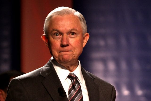 U.S. Attorney General Jeff Sessions; image by Gage Skidmore, via Flickr, CC BY-SA 2.0, no changes.
