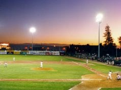 Class 'A' baseball, San Jose, CA, 1994; image by Rdikeman, CC-BY-SA-3.0, via Wikimedia Commons, no changes.