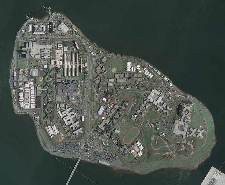 Riker's Island; image by U.S. Geological Survey, Public domain, via Wikimedia Commons.