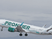 Image of a Frontier Airlines airplane