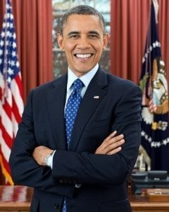 Former President Barrack Obama; Official White House Photo by Pete Souza, Public domain.