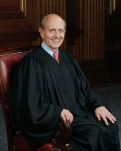 Justice Stephen Breyer; image by Collection of the Supreme Court of the United States, Photographer: Steve Petteway, Public domain, via Wikimedia Commons.