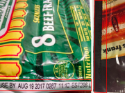 Image of the recalled Nathans hot dogs