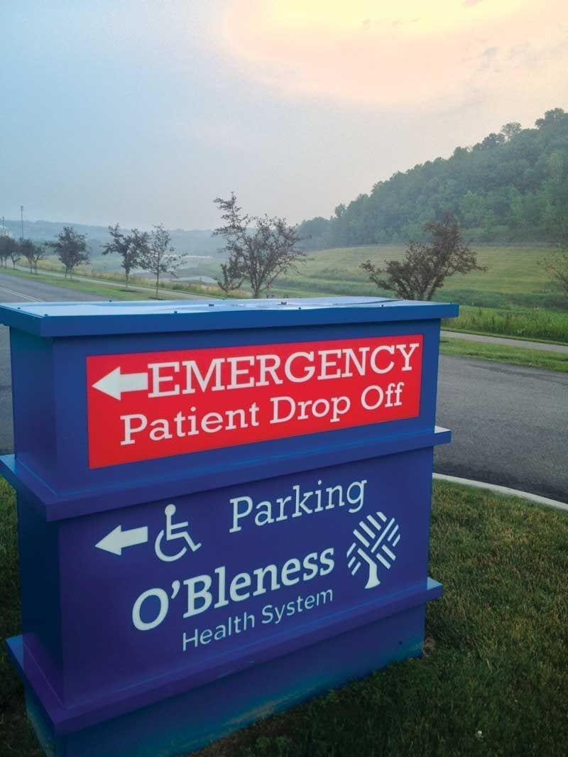 Image of the O'Bleness Health System sign