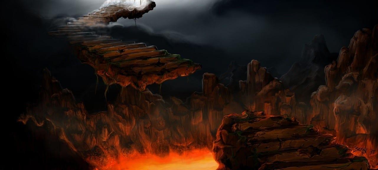 Falling to Hell; image courtesy of Zerig, via www.pixabay.com CC0.