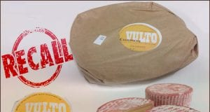 Image of Vulto Creamery cheeses with the word 'recall' in the upper left hand corner.