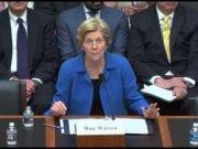 Elizabeth Warren testifies in Congress regarding the Dodd-Frank Act.
