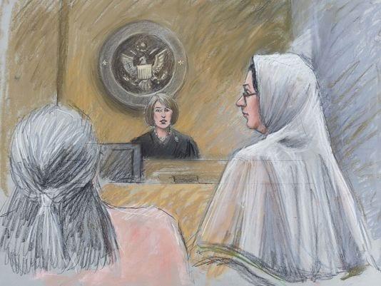 Sketch showing defendant Nagarwala in court