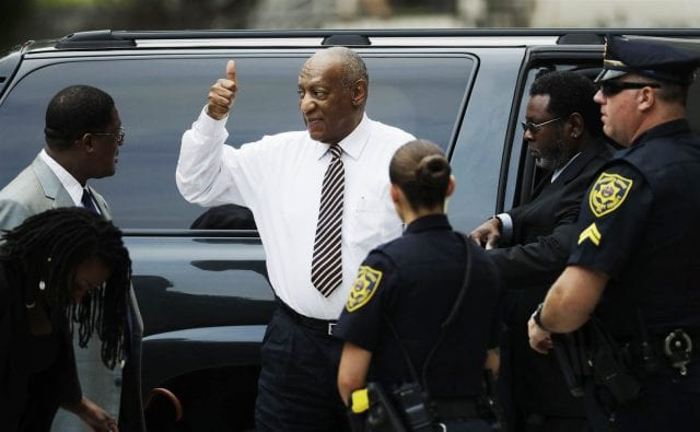 Image of Bill Cosby giving thumbs up