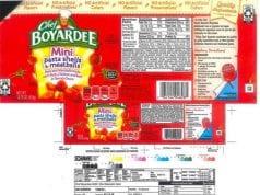 Image of a Chef Boyardee Label