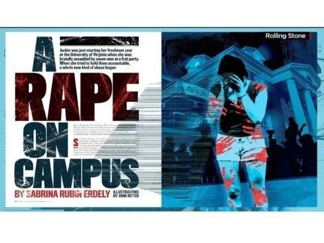 Image of the Cover of 'A Rape On Campus' Article