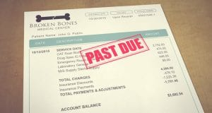 Image of a Past Due Medical Bill