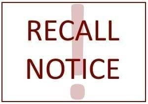 Image of the words 'Recall Notice'