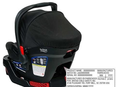 Image of the Recalled Britax Car Seat