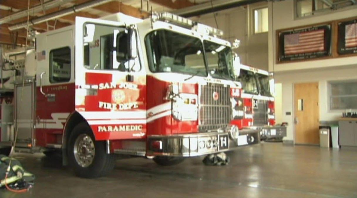 Image of a San Jose Fire Department fire truck