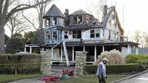 Image of the Stamford home that burned down in the Christmas Day fire, killing Grace, Sarah and Lily Badger