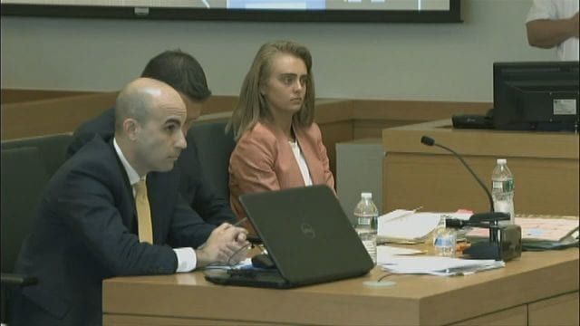 Michelle Carter and legal counsel in court