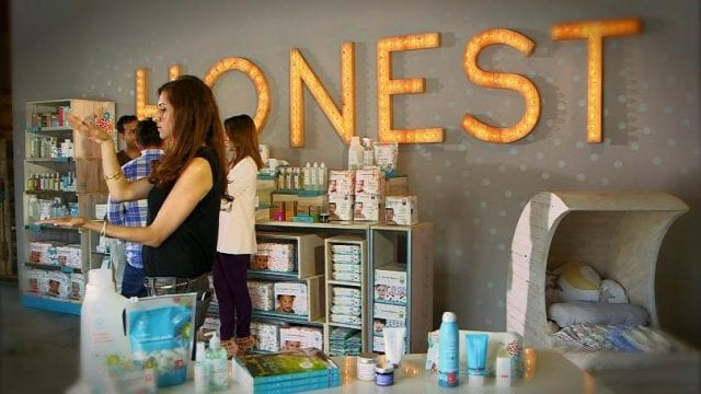 Image of the inside of an Honest Company store