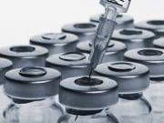 Bottles of injectables with syringe; image courtesy of www.medscape.com.