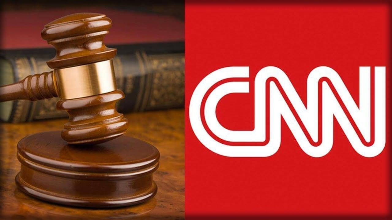 Image of the CNN Logo and a Legal Gavel