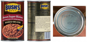 Image of Defective Can of Baked Beans